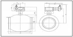 Шаровые краны Ситал серии 411x с удлиненным штоком и редуктором